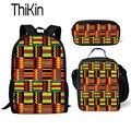 THIKIN этнические школьные сумки для девочек  школьный рюкзак с традиционным принтом в африканском стиле для детей  3 шт.  школьный комплект для...