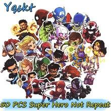 Hot 50 st Super Hero Klistermärke för Bärbara Skateboard Motorcykel Heminredning Bil Styling Vinyl Dekaler Doodle Cool DIY Klistermärken
