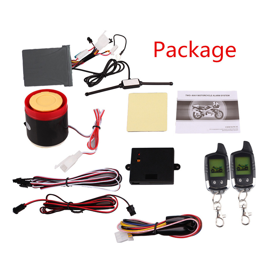 Universal Long Range Distance Remote Anti-theft Alarm System Motorcycle 2 Way LCD Security Immobiliser Microwave Sensor Warning цена 2017
