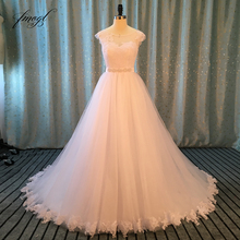 Fmogl Vestido De Noiva Lace Princess Wedding Dresses 2019