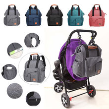 Multifunctional Fashion Mummy Diaper Bags Solid Color Backpack Baby Care Casual Maternity Handbag Nursing Bag Baby Organizers(China)