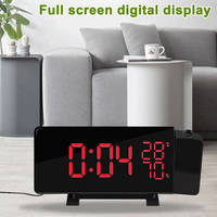 Digital Projection Alarm Clock FM Radio Dimmable LED Projector Christmas Gift FBE3