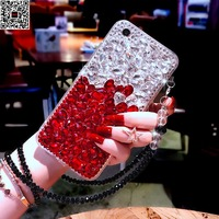 For IPhone 8 Plus X Girl Jewelled Diamond Cover Case For IPhone X 7 Plus 6