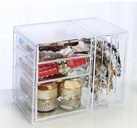 New Year Gift Extra Large Acrylic Makeup Organizer Drawer Storage Box Plastic Storage Acrylic Organizer Box jewelry Bins