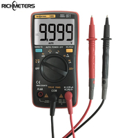 RICHMETERS RM109 Palm Size True RMS Digital Multimeter 9999 Counts Square Wave Backlight AC DC Voltage
