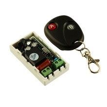 Sistema conmutador de Control remoto inalámbrico, transmisor receptor de luz inalámbrico CA 220 V 1CH, 2 botones A distancia B, 315mhz, 433,92 mhz