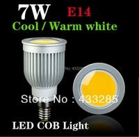 Économie d'énergie 5 W 7 W COB LED plafonnier/bas E14 Fraîche/Blanc Chaud 550-650LM COB spots LED ampoules
