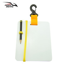 Keep Diving Underwater Writing Slate Diving Wordpad Gear Board With Swivel Clip And Pencil For Water Sports Diving Swimming(China)