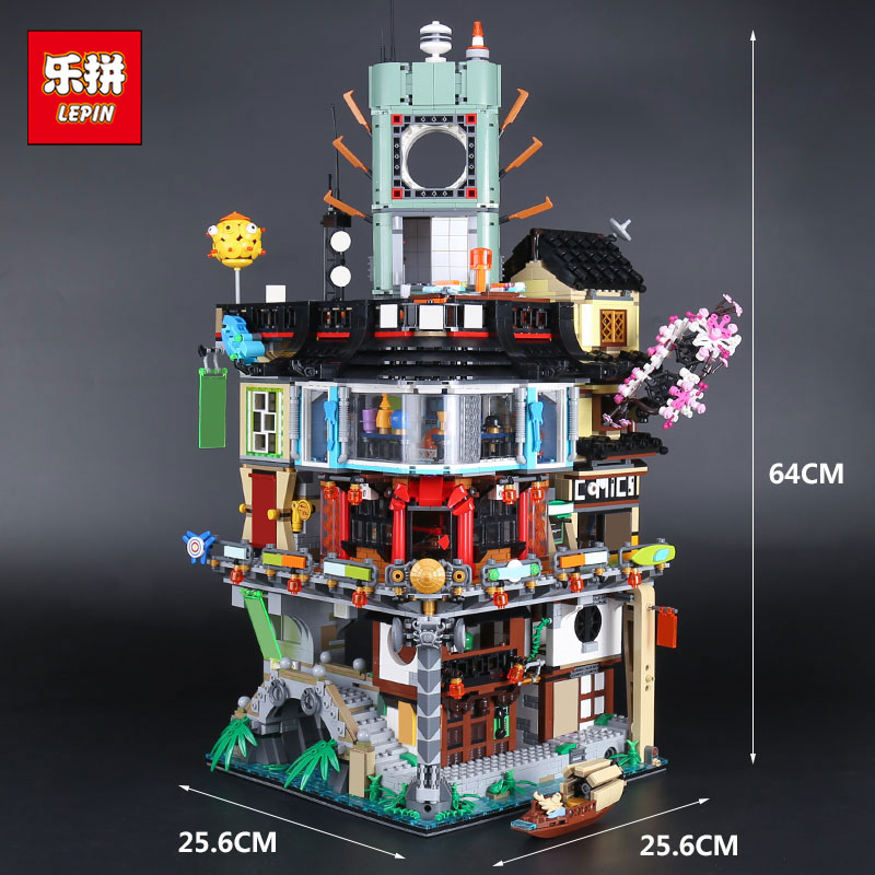 IN STOCK 4932pcs Lepin 06066 The Samurai City Construction Model Building Blocks Children Toys Bricks Gift Compatible 70620 lepin city town city square building blocks sets bricks kids model kids toys for children marvel compatible legoe
