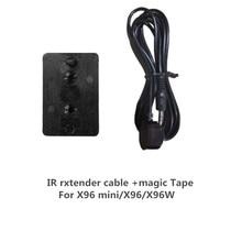 Wechip Cable IR infrarrojo receptor de Control remoto, Cable de extensión y cinta mágica para X96 mini X96 x96W X96 max, decodificador de señal