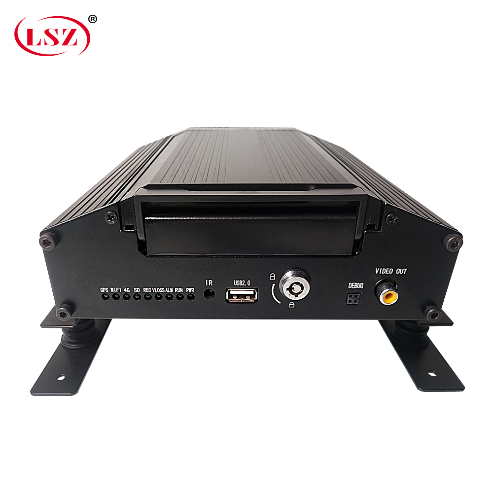 LSZ source factory 4g gps mdvr sd + hard disk cycle recording wide voltage dc8v-36v pal /ntsc system forklift/bus/small car/taxi