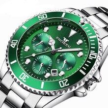 цена FNGEEN luxury Leisure business Quartz Watches Men Water Resistant  Watch Male Clock With Date Calendar Miesten kello онлайн в 2017 году