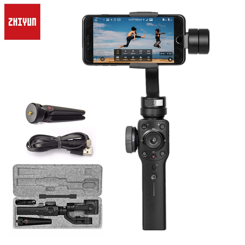 Zhiyun Smooth 4 3-Axis Handheld Gimbal Stabilizer Mobile Phone For xiaomi iPhone X Samsung Galaxy S9 Plus Smartphone WithTripod zhiyun smooth q 3 axis handheld gimbal stabilizer for smartphone