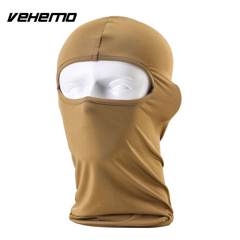 Vehemo аксессуары для улицы полная мотоциклетная маска для защиты лица шапки унисекс 14 цветов Практичная Балаклава лайкра защита удобный - Цвет: sand color