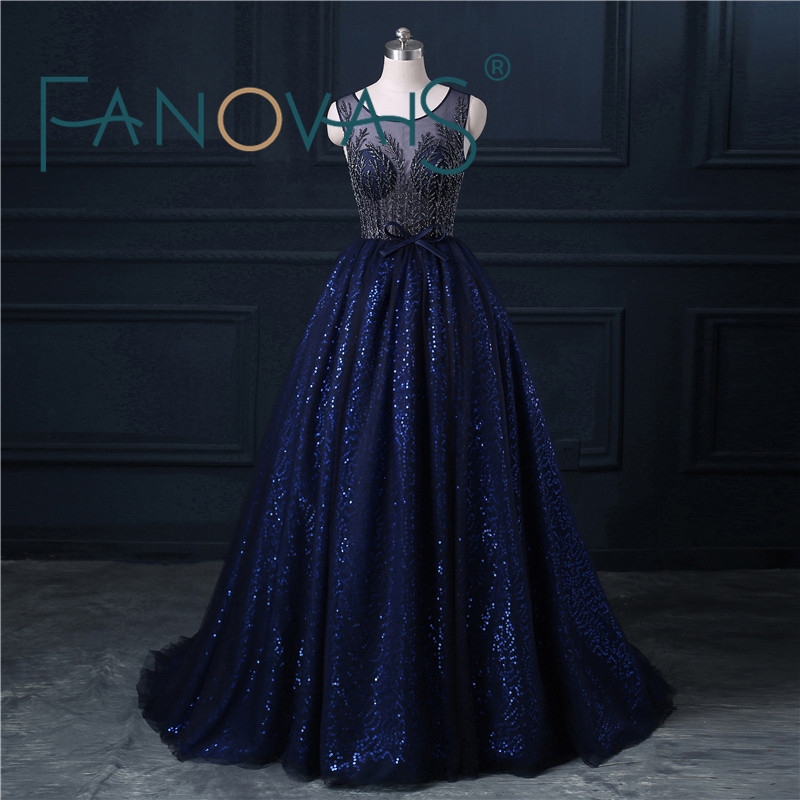 2016 Rubydress Hot Sale Sexy Royal Blue Quinceanera Dresses Ball Gowns Long Blue Tulle Appliques Lace Sweet 16 Dress Besdings