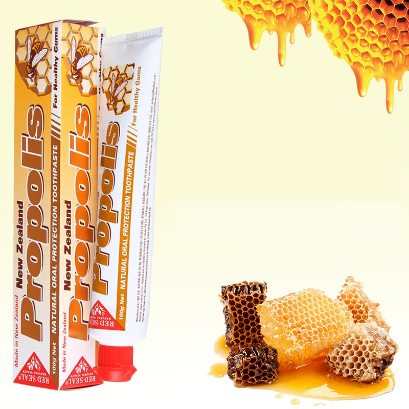 100% NewZealand Propolis Toothpaste 2PCS Antiseptic Protect Mouth Gums from Ulcers Infections Reduce Cavities Gingivitis Decay100% NewZealand Propolis Toothpaste 2PCS Antiseptic Protect Mouth Gums from Ulcers Infections Reduce Cavities Gingivitis Decay