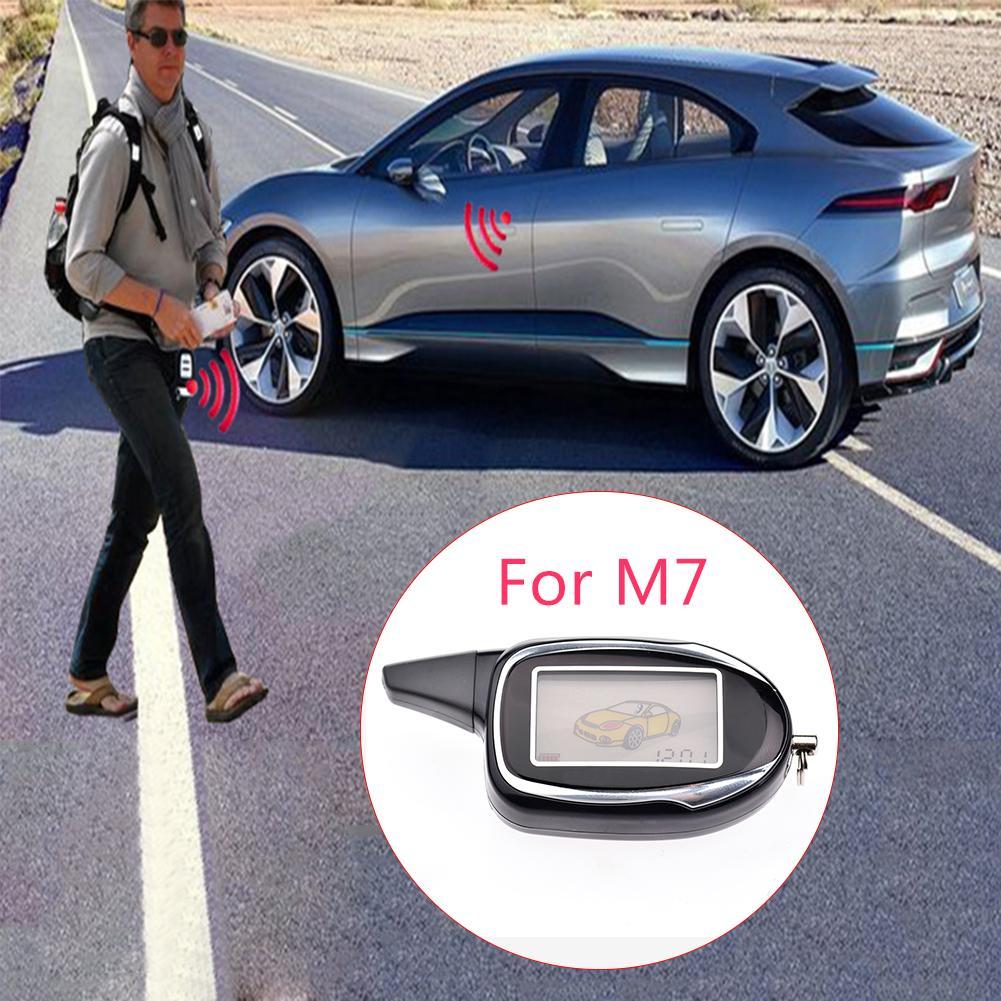 Voiture Anti-voleur Système D'alarme M7 Voiture de Sécurité Télécommande Porte-clés LCD de Voiture à Deux Voies Nouvelle Télécommande Fm émetteur