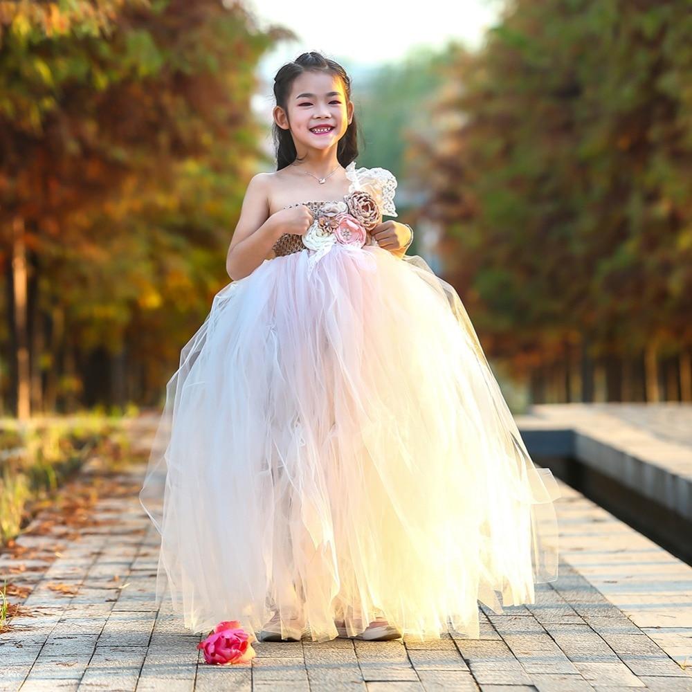 Lilacs Toddler Girl Christmas Tutu Dress Girls Frock Children Nova Ankle Length Lace One Shoulder Dress Kids Costume Princess 8T (13)