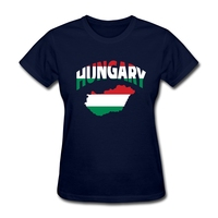 Womens New Hungary Flag T Shirt Creator Woman Grey T Shirt Hungary Map Screw Neck Costumes