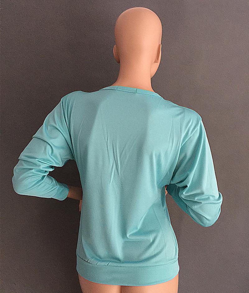 Głębokie V Zamek Kołnierz Nietoperz Z Długim Rękawem Dla Kobiet Dorywczo Cienka Warstwa Kobiet W Nowym Stylu Jesień Bluzy Z Sexy 8