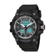 Homens de luxo quartzo led 50 m relógios à prova dwaterproof água moda casual grande dial relógio esportivo homem militar do exército relógio de pulso mannen