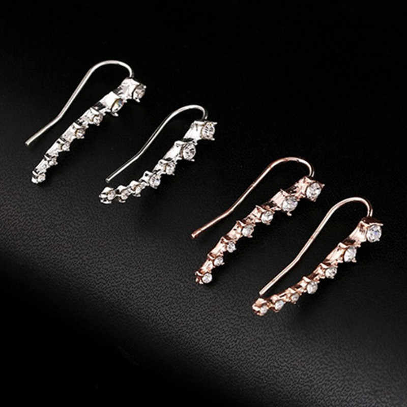 Novo bijoux mujer boucle doreoreille grande dipper brincos de cristal do parafuso prisioneiro para as mulheres jóias de casamento presente da menina