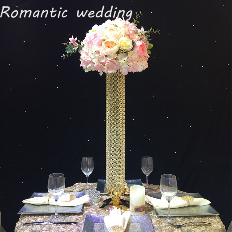 4pcs lot free shipment wedding centerpiece crystal candle for Crystal decorations for home