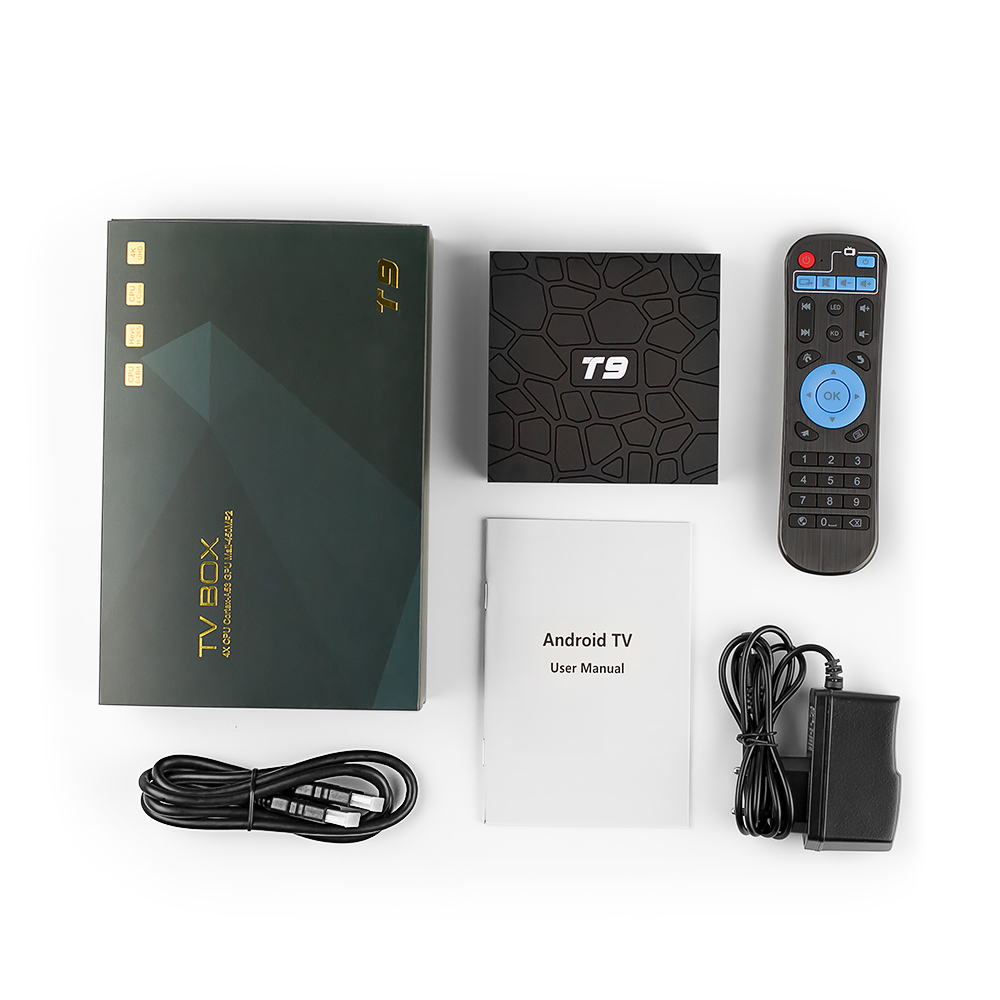 Full HD Live SUBTV IPTV Subscription Box T9 RK3328 Android 8 1 Support BT 4G 32G 2 4GHz WiFi IPTV Arabic France Italy Portugal in Set top Boxes from Consumer Electronics