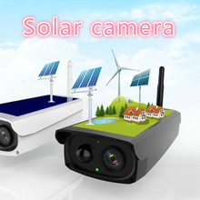 2MP 1080P  Waterproof Outdoor WIFI Wireless with 7800mA Solar Battery Power Surveillance Security CCTV Camera Video Recorder