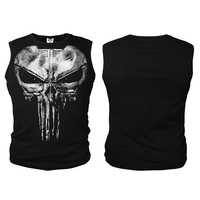 The Punisher Daredevil T Shirts New Punisher T Shirt Print Ghost Vest For Men