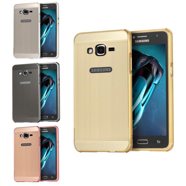 buy popular 33ba5 521c4 US $7.59 5% OFF|Aliexpress.com : Buy For Samsung J 2 Prime Case Metal Frame  with Brushed Back Cover Hard Case for Samsung Galaxy J2 Prime G532 SM ...