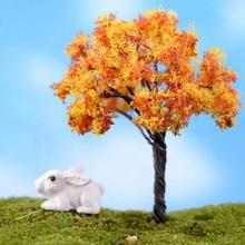 3Pcs Resin Miniature Tree DIY Craft Accessory Home Garden De