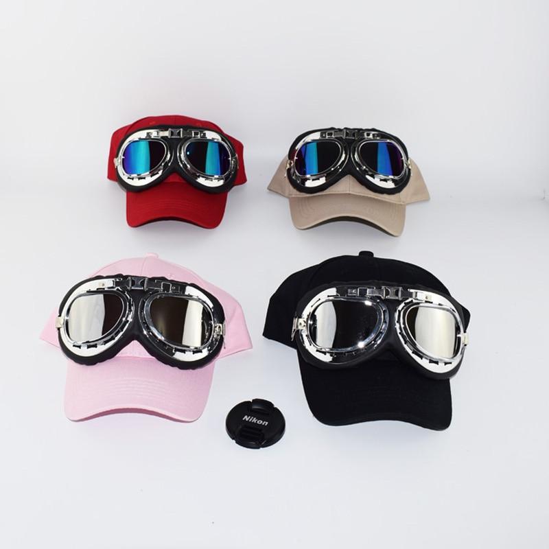 2017 Fashion Adult's Hip Hop Baseball Cap Summer men's Sun Hat Cartoon Large glasses pilot women Girls snapback Caps