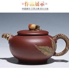Исин Zisha персик Чай горшок 380 мл ручной работы кунг-фу Чай комплект Чайники китайский Керамика Глиняный Чайник подарок цветной рисунок