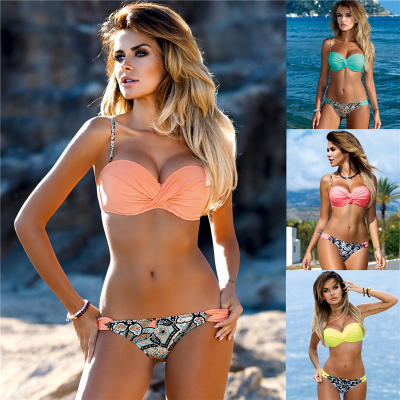 2017 <font><b>Summer</b></font> Low Waist <font><b>Bikini</b></font> Set Swimwear Women <font><b>Sexy</b></font> Bench Swimsuit Bathing Suit Push Up Biquini <font><b>Brazilian</b></font> Maillot De Bain Femme image