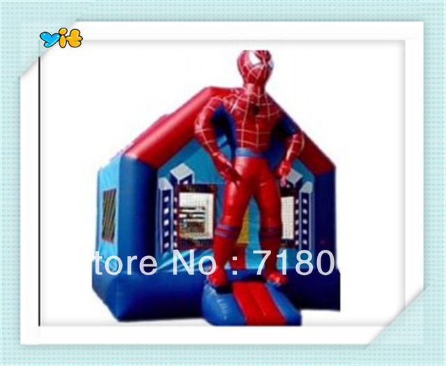 spider man inflatable bouncy castle, inflatable jumper