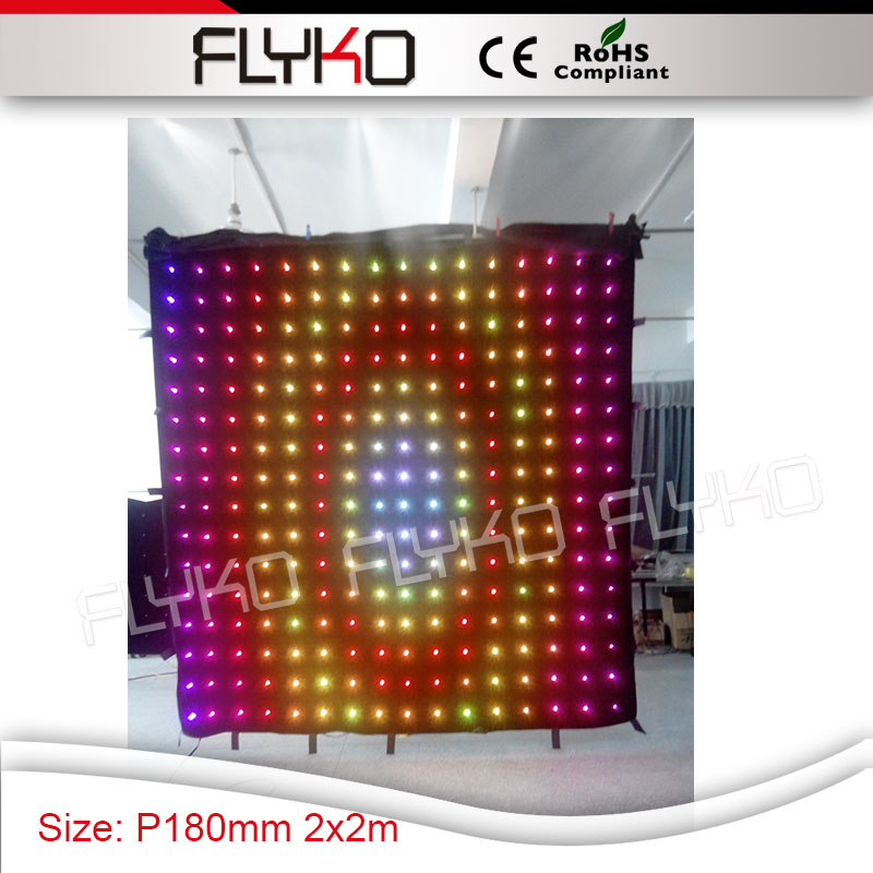 hot selling P180mm best price led lights backdrop 2m by 2m video curtain display cloth