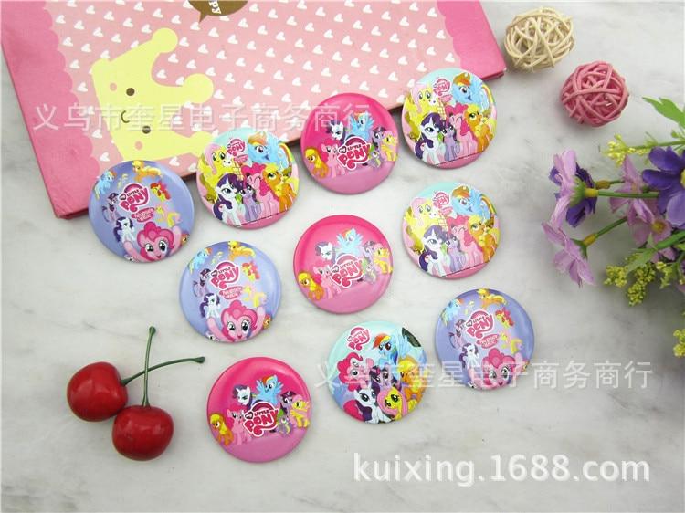 Toys Badge-Pin-Brooch Action-Figure Pet-Shop Rainbow-Dash Little-Pony Lps Random-10pieces