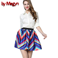 by Megyn Spring Summer Fashion Sexy Women Skirt Mini Plaid Tutu Sexy Pleated School Girl Saias Femininas Midi 15152