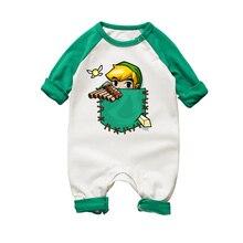 Комбинезоны для новорожденных девочек; комбинезон с длинными рукавами и рисунком; Комбинезон для маленьких мальчиков и девочек