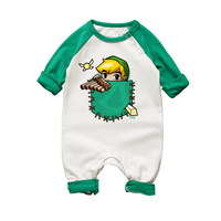 Newborn Baby Girl Rompers The Legend Of Zelda Cartoon Printing Long Sleeve Jumpsuit Romper Infant Unisex