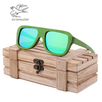 Fashion environmental sunglasses children's color wooden Sunglasses manual bamboo wood glasses polarizer can customize LOGO