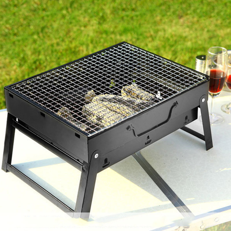 Portable BBQ Barbecue Grills Burner Oven Outdoor Garden Charcoal Barbeque Patio Party Cooking Foldable Picnic for 3-5 Person New
