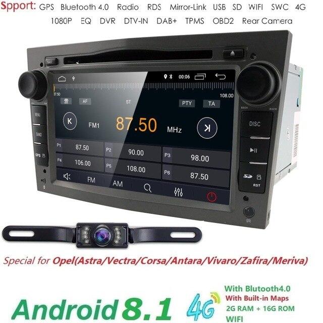 2 GRAMM HD1024 * 600 2DIN Quad Core Android8.1 Auto DVD Player GPS Radio Für Opel Astra H Vectra Corsa zafira B C G auto stereo 4 GWIFI