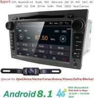 2GRAM HD1024*600 2DIN Quad Core Android8.1 Car DVD Player GPS Radio For Opel Astra H Vectra Corsa Zafira B C G car stereo 4GWIFI