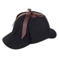 Cosplay Hat Nowości Prezenty Deerstalker Kapelusz Detektyw Sherlock Holmes Cap Unisex Kostiumy Filmowe Płaskie Czapki Hip Hop Akcesoria