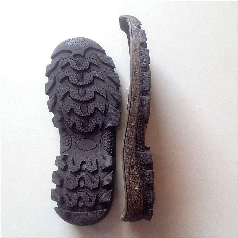 Double couleur semelle souple chameau en plein air chaussures en cuir chaussures, loisirs chaussures semelles de sport unique remplacement de chaussures usées