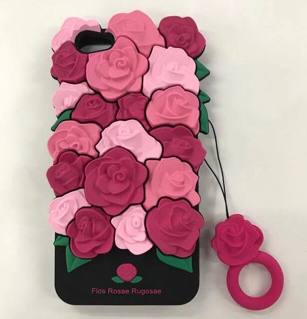 d45043aba2 Di lusso Regalo di San Valentino 3D Del Fiore della Rosa Romantico Coque  Molle Del Silicone Del Telefono Caso Della Copertura posteriore Per il  iphone ...