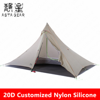 AstaGear Windwisper Series Tent Outdoor Camping Tent 2 Persons Pyramid Tent  Winter Rainproof Snow Protection Hiking Tent
