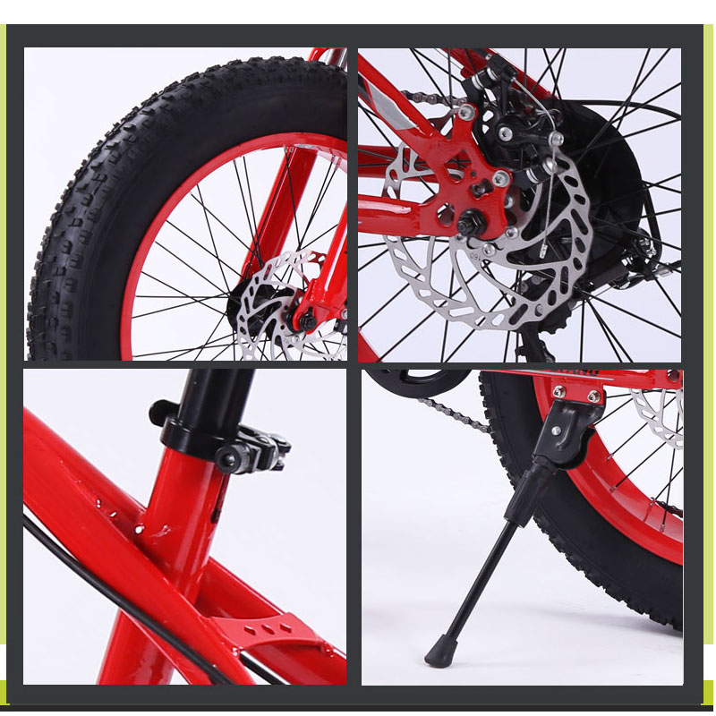 Bicycle Mountain bike 7 21 speed Fat Road Snow bikes 20 4 0 Front and Rear Bicycle Mountain bike 7/21 speed Fat Road Snow bikes 20*4.0 Front and Rear Mechanical Disc Brake New Free shipping